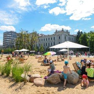 Šimašius apie paplūdimį sostinės širdyje: Lukiškių aikštę reikia kantriai gydyti