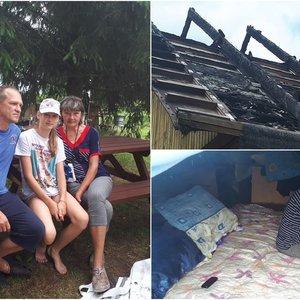 Vienturtę dukrą palaidoję tėvai liko be namų: dabar neturi net dušo