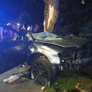 Tragiška avarija Kėdainių rajone: žuvo du jauni vyrai, kaltininkas – galimai girtas