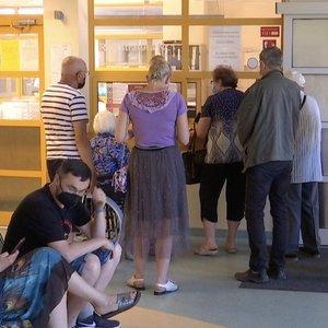 Prie skubios pagalbos skyriaus sostinėje – rekordinės pacientų eilės