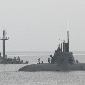 Neeilinis svečias Klaipėdoje: iš Vokietijos atvyko karinis povandeninis laivas