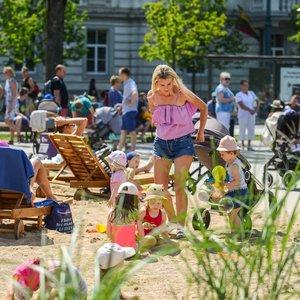 Kultūros paveldo departamentas: pliažas nepažeidžia Lukiškių aikštės savybių