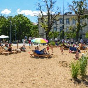 Skvernelis: pliažo idėja gera, paplūdimys galėjo būti įrengtas Vinco Kudirkos aikštėje
