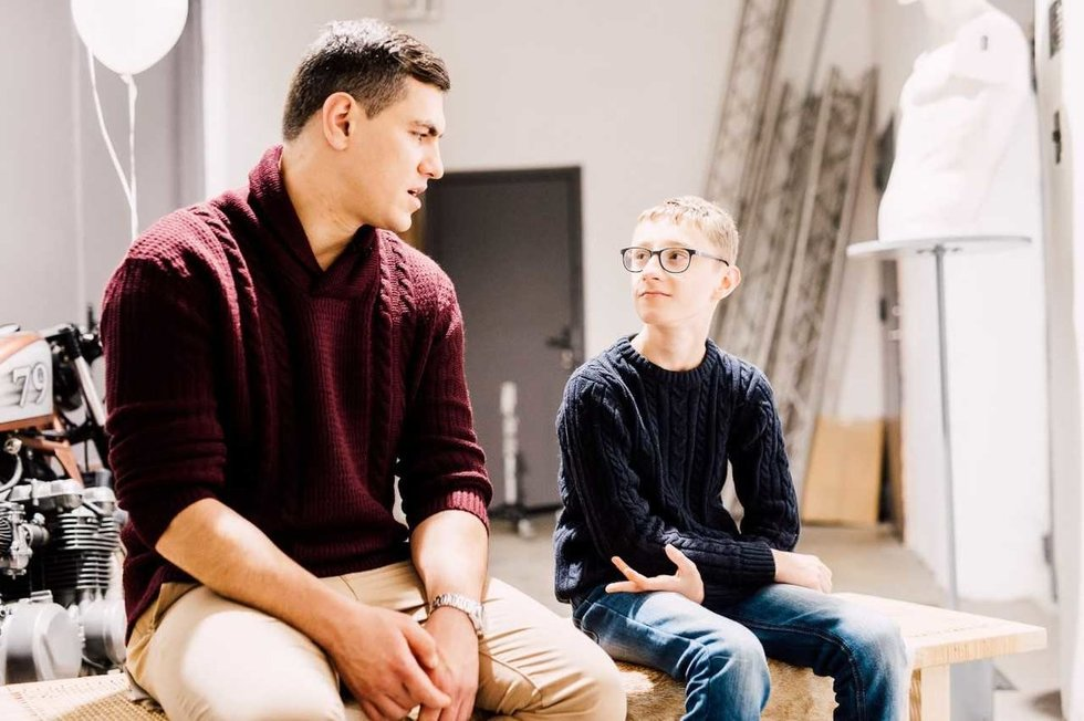 Edgaras susitiko su Justinu Jankevičiumi