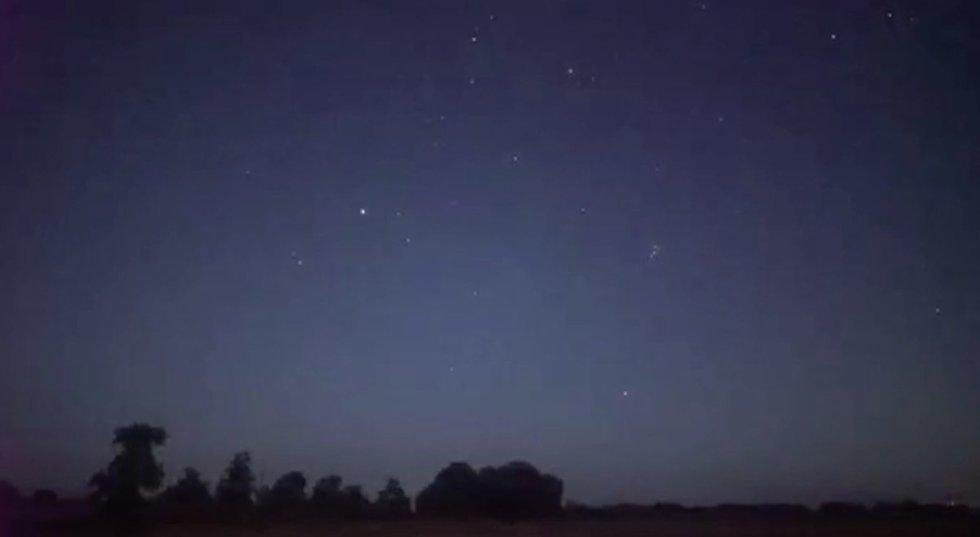 Meteorų lietus (nuotr. stop kadras)