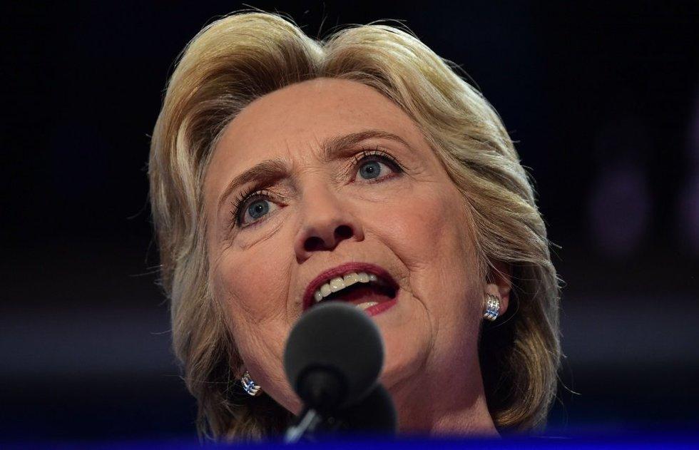 """Hillary Clinton pažadėjo būti """"visų amerikiečių"""" prezidentė (nuotr. SCANPIX)"""