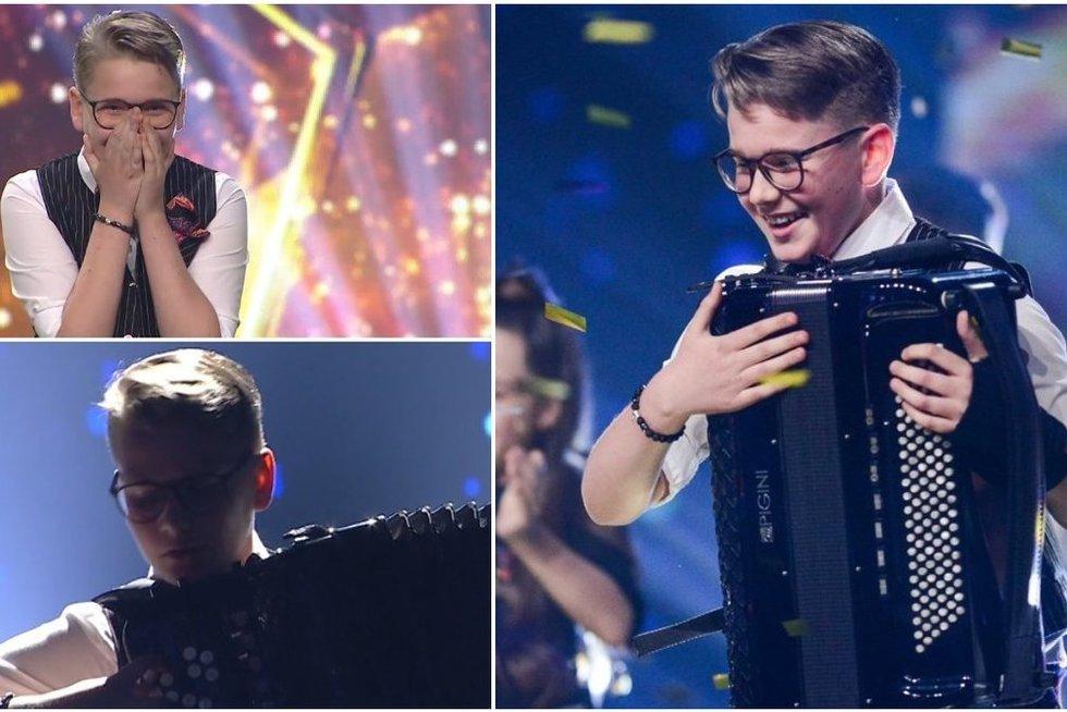 """""""Lietuvos talentai. Supervaikai"""" nugalėtojo emocijos – laimėjo 10 tūkst. eurų"""