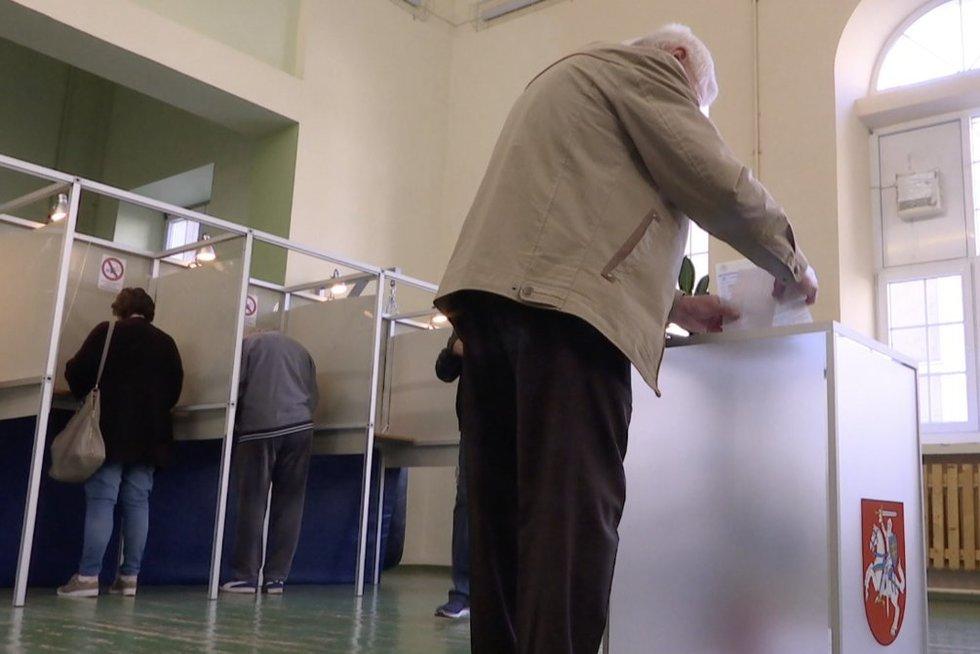 Balsavimas (nuotr. stop kadras)