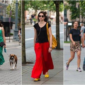 Vilniečių gatvės stilius: merginos demonstruoja gražias kojas ir puikų skonį
