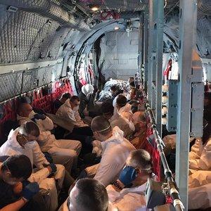 Neeilinis įvykis: iš Jungtinės Karalystės į Lietuvą atskrido kalinių lėktuvas