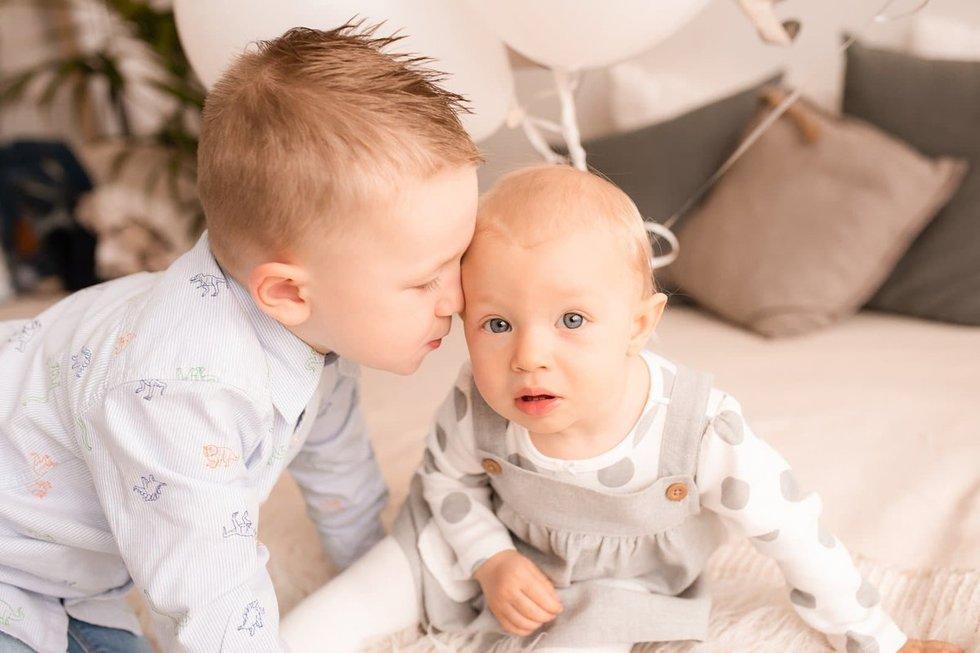 V. Beišienė po dirbtinio apvaisinimo susilaukė dviejų nuostabių vaikų