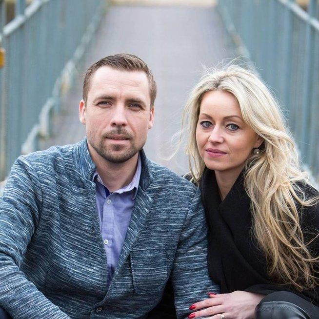 Julius Davidonis su žmona (Nuotr. facebook.com)