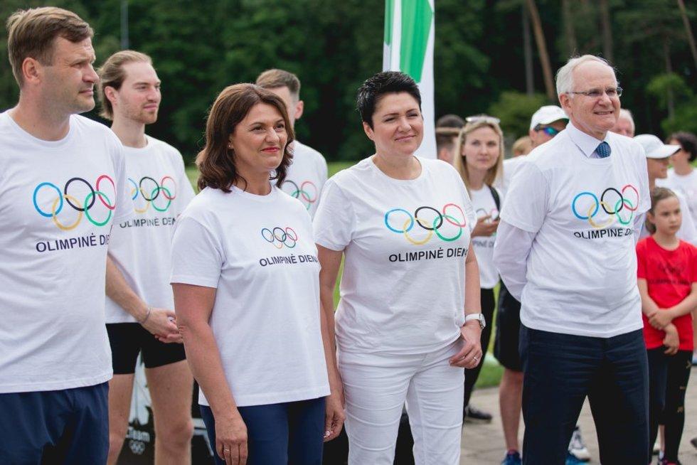 Olimpinės dienos minėjimą Vingio parke.