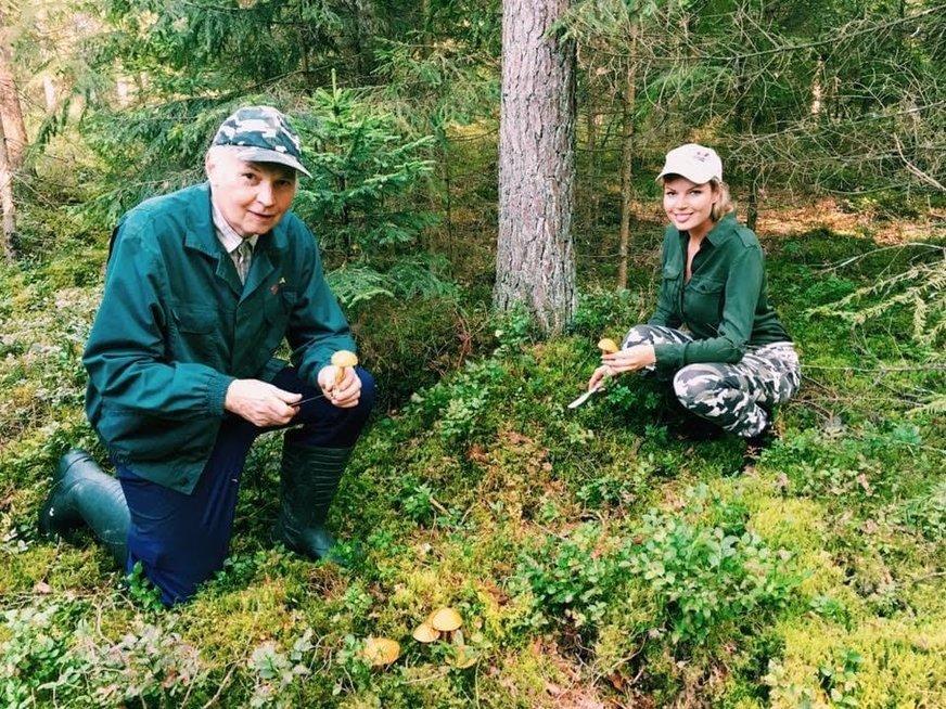 Solveiga Mykolaitytė su tėčiu