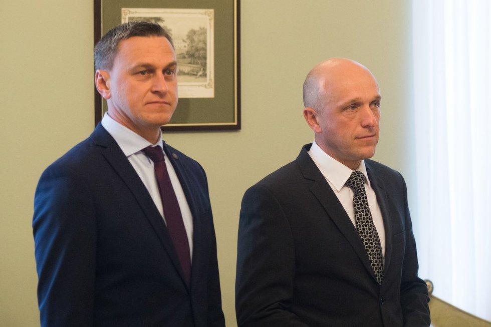 Šarūnas Rameikis (kairėje)