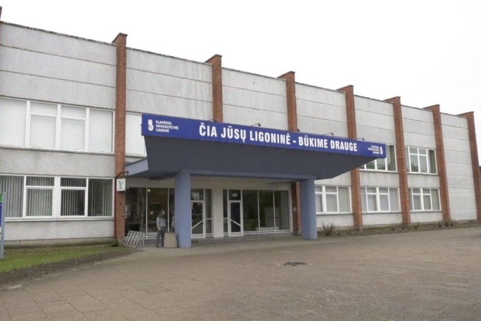 Klaipėdos universitetinė ligoninė (nuotr. stop kadras)