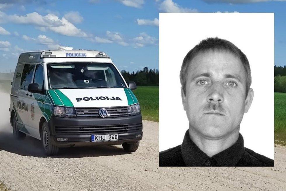Ieškomas Mažeikių rajone pareigūną nušovęs vyras (tv3.lt fotomontažas)