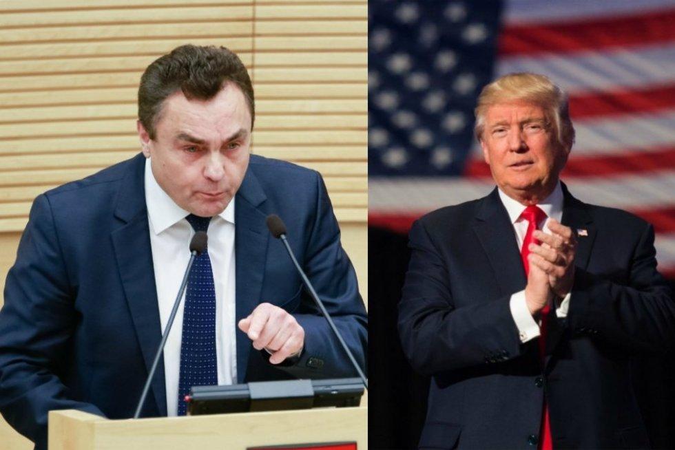 Petras Gražulis ir Donaldas Trumpas (TV3 fotomontažas)
