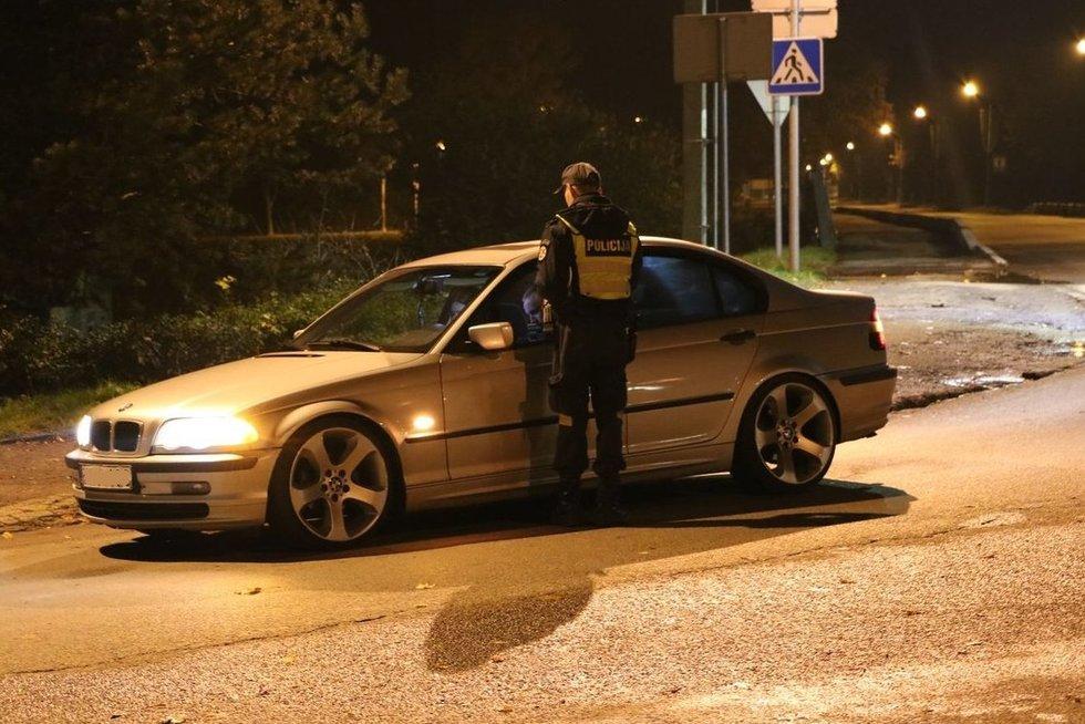 Tikrinta, ar vairuotojai už vairo sėdo neragavę alkoholio (nuotr. Policijos)
