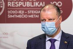 Skvernelis pasakė, kada Lietuvoje kaukės vėl būtų privalomos