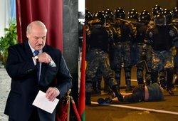 Neramumai Baltarusijoje stiprėja: protestai dėl laiminčio Lukašenkos keliasi į kitus miestus, milicija mėgina malšinti