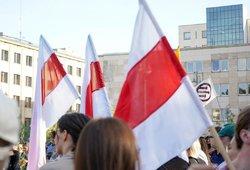 Vilniuje prie Baltarusijos ambasados protestuojama prieš rinkimų rezultatų klastojimą ir smurtą
