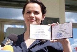Aiškėja, kaip Cichanouskaja atsidūrė Lietuvoje – veikiausiai iki pasienio ją lydėjo pareigūnai