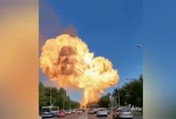 Rusijoje nugriaudėjo galingas sprogimas – sprogo degalinė, yra sužeistų