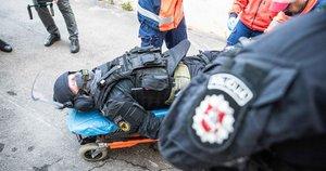 Vilniaus centre pratybų metu aidėjo šūviai ir sprogimai (nuotr Fotodiena/Arnas Strumila)