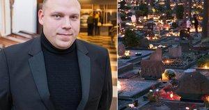 Jevgenijus laidojimo rūmuose dirba jau daugiau nei penkiolika metų (nuotr. Fotodiena/Justino Auškelio)