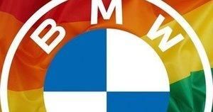 BMW pasipuošus LGBT vėliava žmonės pasipiktino