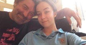 Eduardas Gimenezas su dukra  (nuotr. asm. archyvo)