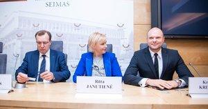 Kristupas Krivickas, Rūta Janutienė, Naglis Puteikis (nuotr. Fotodiena/Justino Auškelio)