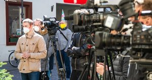 Žurnalistai (nuotr. Fotodiena/Justino Auškelio)