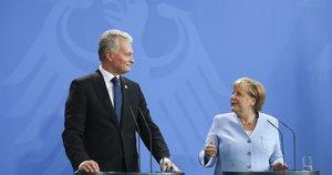 Gitanas Nausėda ir Angela Merkel (nuotr. Scanpix)
