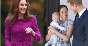 Kate Middleton, Meghan Markle ir princas Harry su sūnumi Archie (tv3.lt fotomontažas)