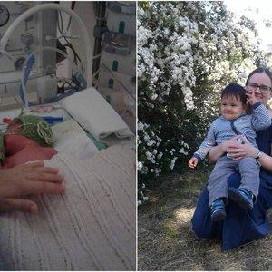 Gimusį sūnų vilnietė pamatė tik po 8 valandų: su mirtimi kovojo tiek mama, tiek kūdikis