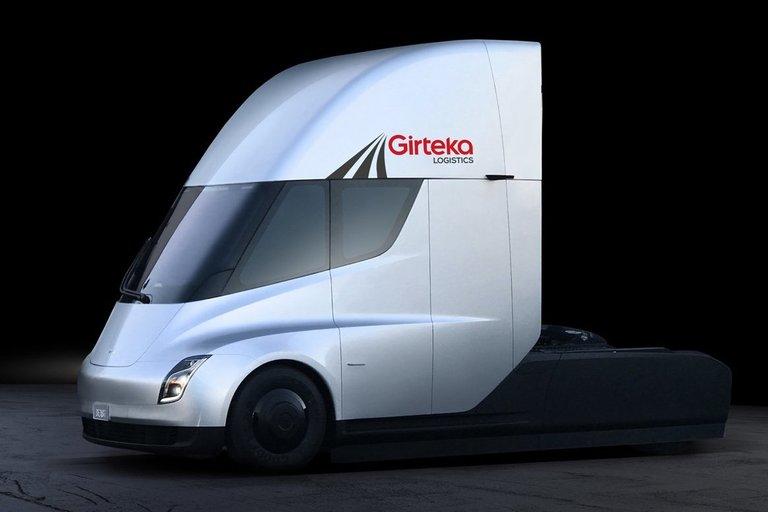 Tesla sunkvežimis (nuotr. bendrovės)