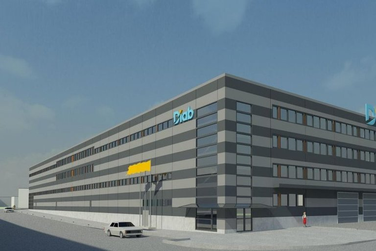 """UAB """"DIAB"""" gamyklos vizualizacija (nuotr. bendrovės)"""