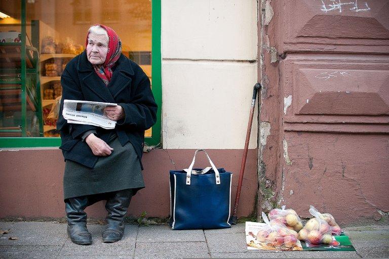 Pensininkai (nuotr. Fotodiena.lt/Simonas Švitra) (nuotr. Balsas.lt)