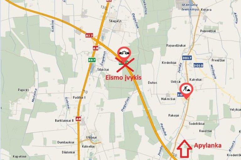 Žemėlapis (nuotr. Lietuvos automobilių kelių direkcija)