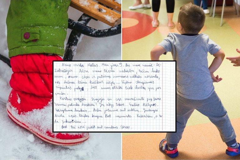 Plinta vaiko laiškas