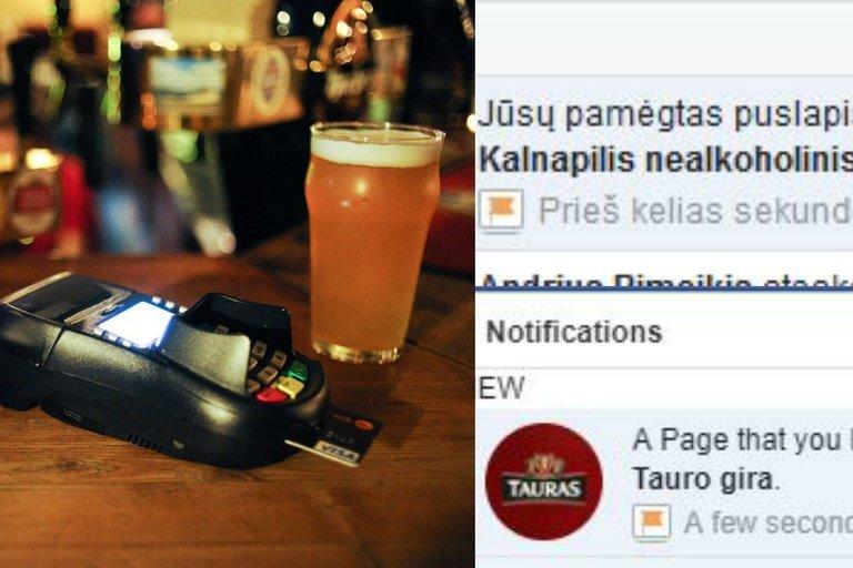 "Alkoholis gujamas lauk iš ""Facebook"" (tv3.lt fotomontažas)"