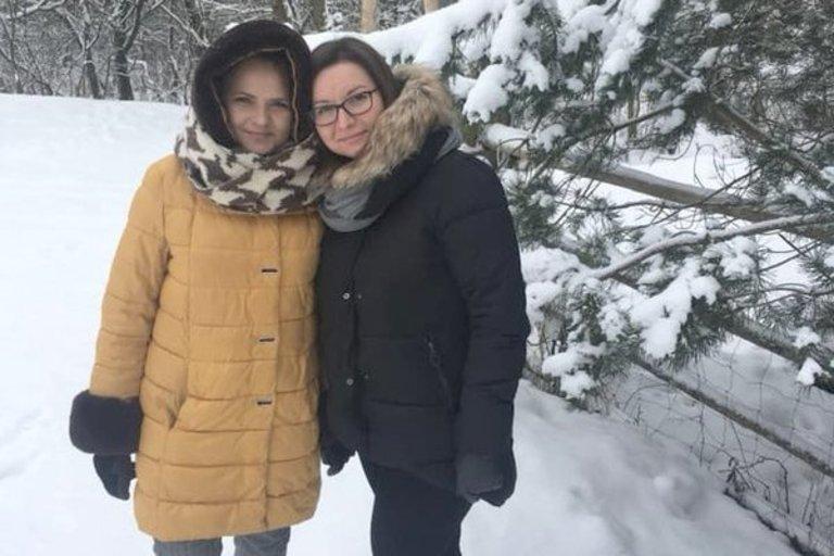 """Viktorija ir Agata dalyvavo atrankinėje projekto """"Draugystė veža"""" kelionėje į Trakus.  (VšĮ """"Baltijos ugdymo centras"""" nuotr.)"""