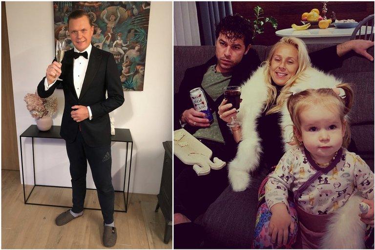 Mindaugas Stasiulis, Ineta Stasiulytė su Deividu Meškausku ir dukrele (tv3.lt fotomontažas)