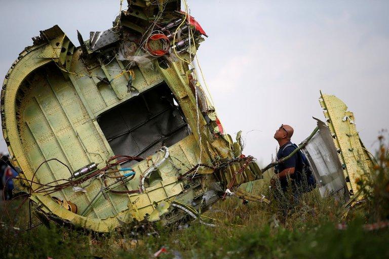 Sudužęs MH17 laineris (nuotr. Scanpix)