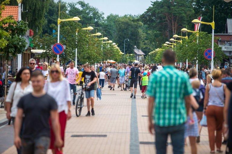 Palangos Basanavičiaus gatvė (nuotr. Fotodiena/Justino Auškelio)