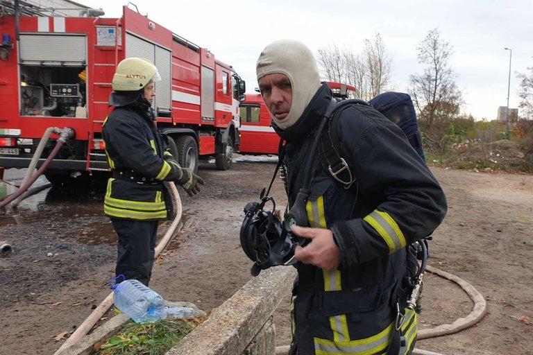 Gaisras Alytuje (nuotr. TV3)