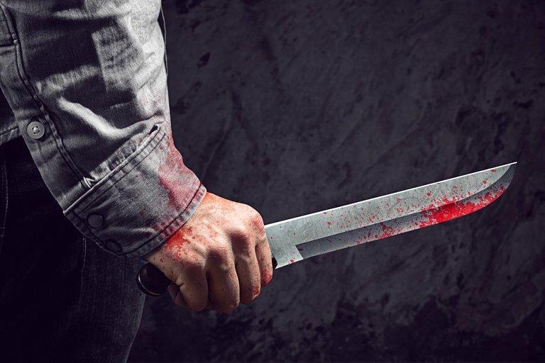 Žudikas su kruvinu peiliu (nuotr. 123rf.com)