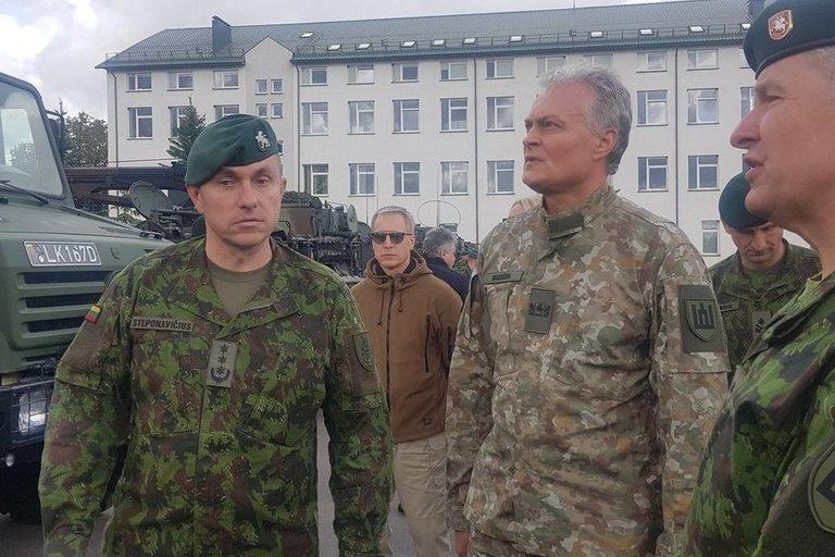 Gitanas Nausėda apsilankė Ruklos karinėje įguloje (nuotr. Vaida Girčė)